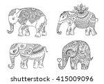 big set card with elephant....