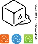 melting ice cube icon | Shutterstock .eps vector #415014946