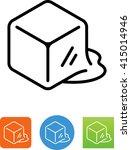 melting ice cube icon