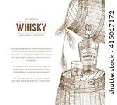 vector whisky production... | Shutterstock .eps vector #415017172