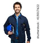 engineer portrait isolated on...   Shutterstock . vector #415017622