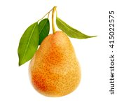 one ripe juicy pear isolated.... | Shutterstock . vector #415022575