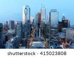 skyscrapers in downtown toronto ... | Shutterstock . vector #415023808