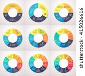 infographics  pie charts with 2 ... | Shutterstock .eps vector #415026616