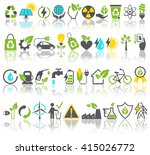 eco friendly bio green energy... | Shutterstock .eps vector #415026772