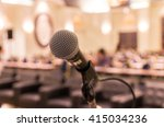 microphone over the abstract... | Shutterstock . vector #415034236