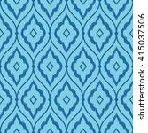 seamless azure blue vintage... | Shutterstock . vector #415037506