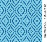 seamless azure blue vintage... | Shutterstock .eps vector #415037512