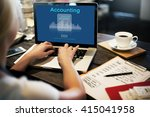 accounting finance calculate... | Shutterstock . vector #415041958