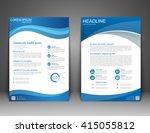 brochure flyer design layout... | Shutterstock .eps vector #415055812