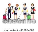 poster design for cleaning... | Shutterstock .eps vector #415056382