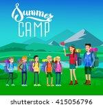 vector illustration of kids... | Shutterstock .eps vector #415056796