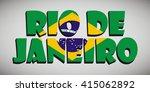rio de janeiro text | Shutterstock .eps vector #415062892