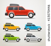 different color cars vector... | Shutterstock .eps vector #415070446
