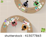 vector business work place top... | Shutterstock .eps vector #415077865
