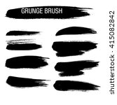 vector set of grunge brush... | Shutterstock .eps vector #415082842