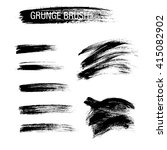 vector set of grunge brush... | Shutterstock .eps vector #415082902