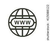 website icon jpg   Shutterstock .eps vector #415088122