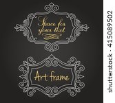 templates vintage elements on a ... | Shutterstock .eps vector #415089502