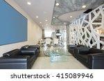 modern luxury hotel lobby... | Shutterstock . vector #415089946