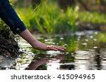 hand over the water. hand...   Shutterstock . vector #415094965