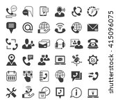 call center service icons ... | Shutterstock .eps vector #415096075