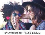 girls on the street with the... | Shutterstock . vector #415113322