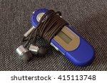 mp3 player with headphones | Shutterstock . vector #415113748