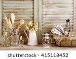 Rustic Kitchen Still Life  Wir...