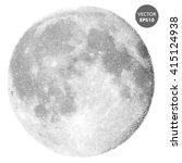 moon vector illustration. space ... | Shutterstock .eps vector #415124938