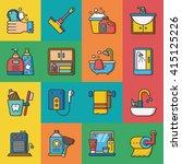 icon set sanitary vector | Shutterstock .eps vector #415125226