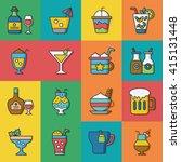 icon set drink vector | Shutterstock .eps vector #415131448