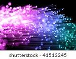abstract view of fiber optics | Shutterstock . vector #41513245