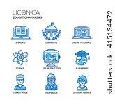 set of modern education thin... | Shutterstock . vector #415134472