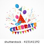 holiday celebration with... | Shutterstock . vector #415141192