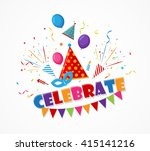 holiday celebration with... | Shutterstock .eps vector #415141216