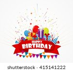 holiday celebration with... | Shutterstock . vector #415141222