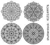 set of mandalas for painting.... | Shutterstock .eps vector #415149976