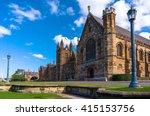 sydney uni building facade.... | Shutterstock . vector #415153756