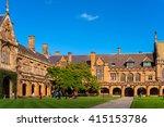 sydney uni inner yard with... | Shutterstock . vector #415153786