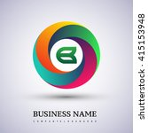 b letter colorful logo in the... | Shutterstock .eps vector #415153948
