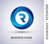 r letter logo in the blue... | Shutterstock .eps vector #415164268
