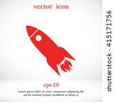 rocket ship vector | Shutterstock .eps vector #415171756