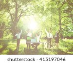 green business team. | Shutterstock . vector #415197046