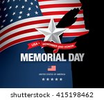 memorial day. remember and... | Shutterstock .eps vector #415198462