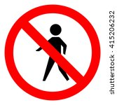 walk warning stop sign icon | Shutterstock .eps vector #415206232