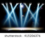 a theatre or theater stage and... | Shutterstock .eps vector #415206376