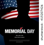 memorial day. vector... | Shutterstock .eps vector #415207426