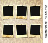 old photoframes are hanging on... | Shutterstock . vector #41521492