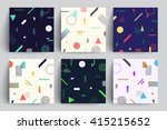 chaotic geometry backgrounds... | Shutterstock .eps vector #415215652